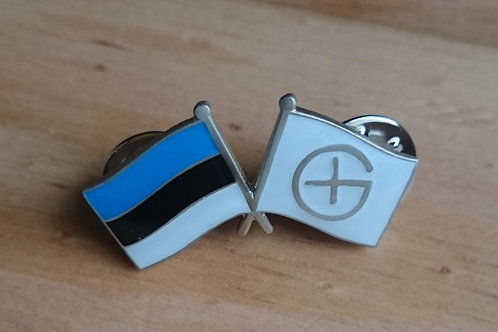 National Geocaching Flag Pin Badge - Estonia