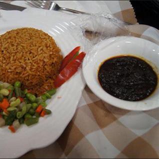 Sheto, rice, and veggies