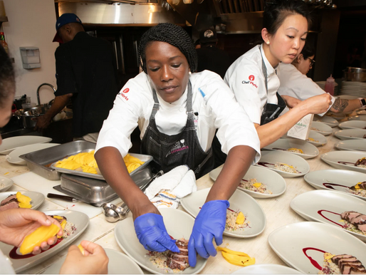 Ghanaian-born Chef Selassie Atadika featured at the Iconoclast Dinner in NYC.