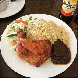 Sheto with chicken and rice
