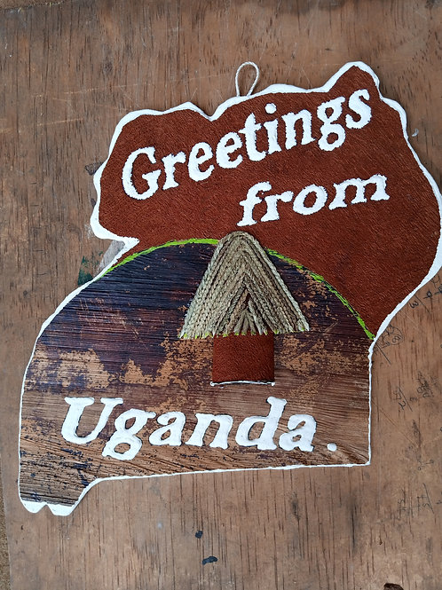 Decorated map of Uganda