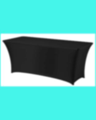 Tafel met zwarte rok