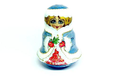 Boneca Matrioska Mamãe Noel Teimosa com Sininho