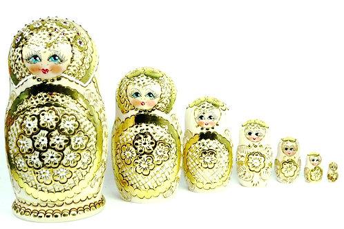 Bonecas Matrioskas Douradas