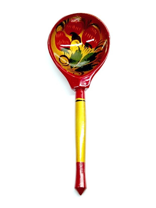 Colher Floral Vermelha