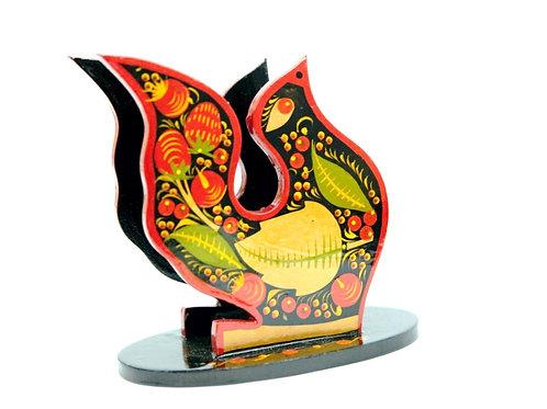 Porta Guardanapos Pássaro Russo Frutas Vermelhas