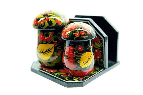 Porta Guardanapos e Condimentos Frutas Vermelhas Cogumelos