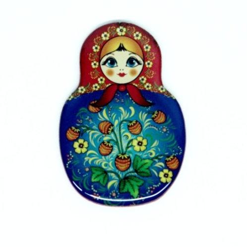 Íma Matriosca Floral Azul e Vermelho