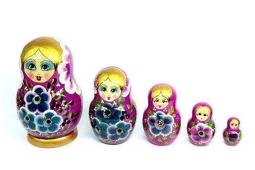 Bonecas Matrioskas Florais