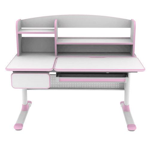 Rimu Pink - regulowane biurko Cubby