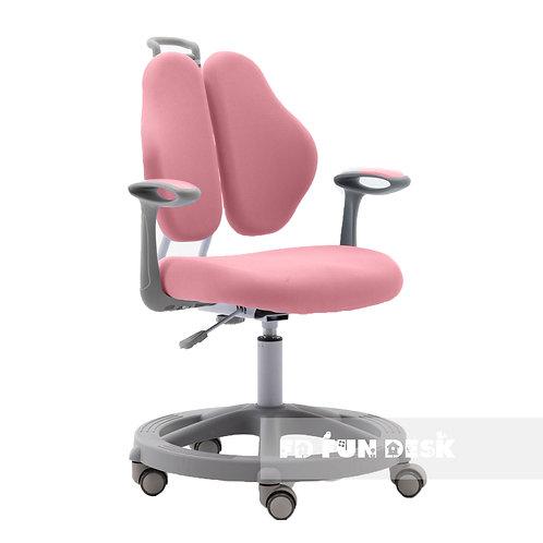 Vetta II Pink - Krzesełko z regulacją wysokości oraz podłokietnikami