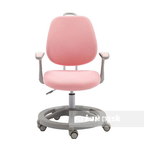 Vetta Pink - Krzesełko z regulacją wysokości oraz podłokietnikami