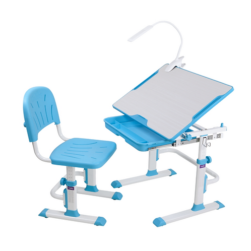 Cubby Lupin Blue - Regulowane biurko z krzesełkiem