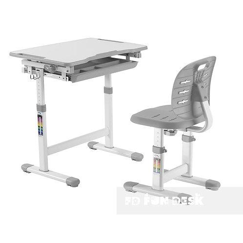 Piccolino III Grey - zestaw biurko z krzesełkiem dla dzieci