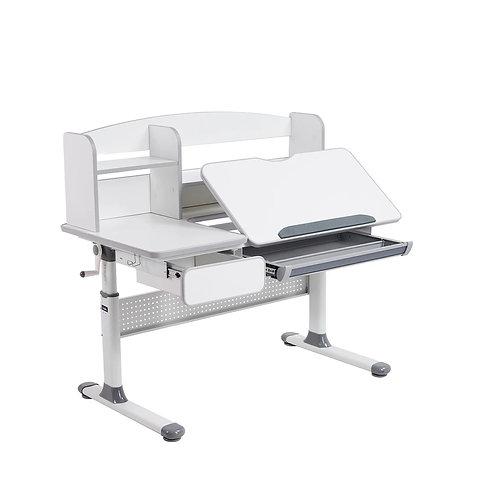 Rimu Grey - regulowane biurko Cubby
