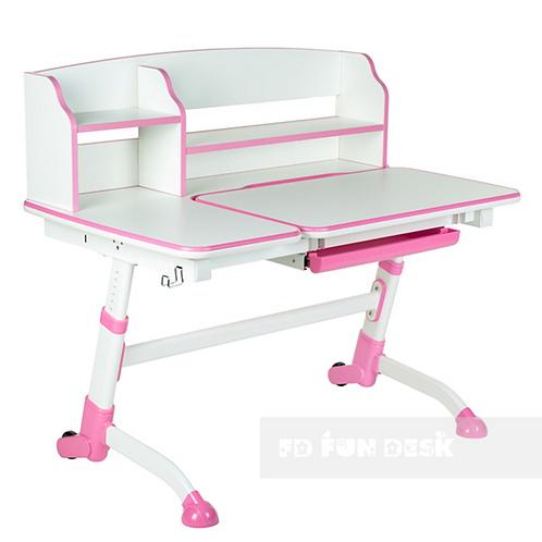 Amare II Pink - regulowane biurko