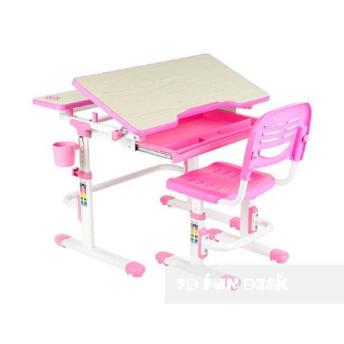 Lavoro Pink - Regulowane biurko z krzesełkiem