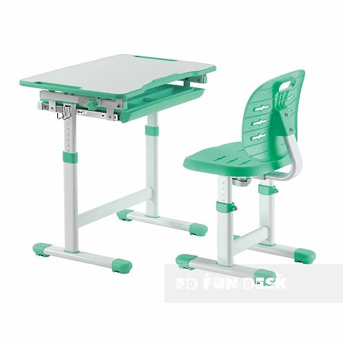 Piccolino III Green - zestaw biurko z krzesełkiem dla dzieci