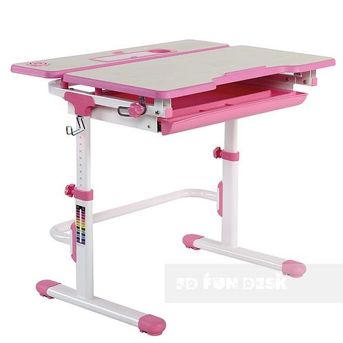 Lavoro L Pink - Regulowane biurko