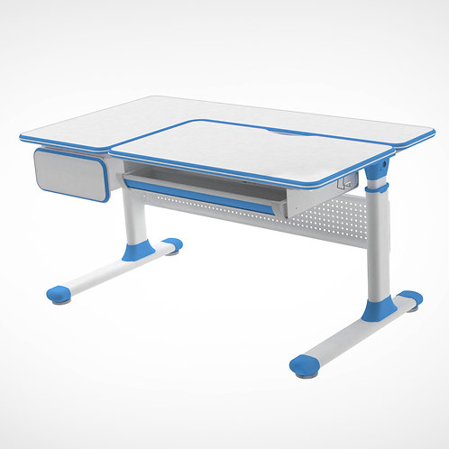 Toru Blue - regulowane biurko szkolne Cubby
