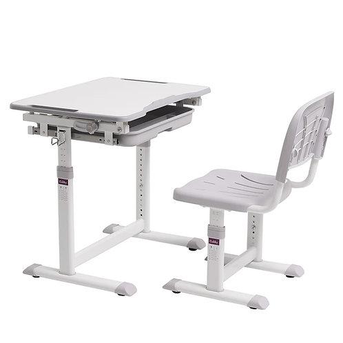 Cubby Sorpresa Grey - Regulowane biurko z krzesełkiem