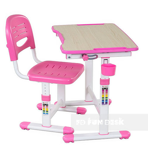 Piccolino II Pink - Biurko dziecięce