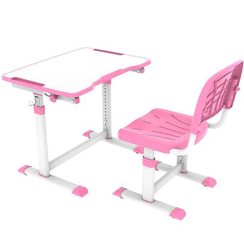 Olea Pink - Biurko z krzesełkiem dla dzieci