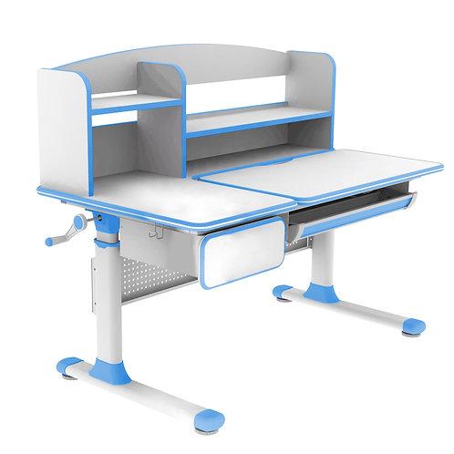 Rimu Blue - regulowane biurko Cubby