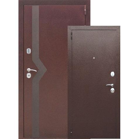 Металлическая сейф дверь ISOTERMA 10 см медный антик Мет/мет