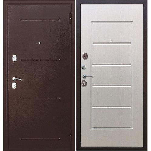 Металлическая сейф дверь Гарда 7,5 белый ясень