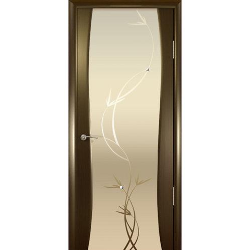 Межкомнатная дверь Буревестник 2 ДО белое растение