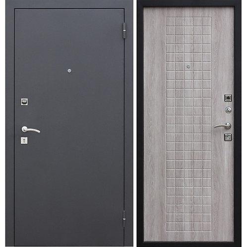 Металлическая сейф дверь Гарда Муар 8мм белый ясень