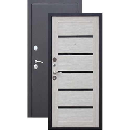 Металлическая сейф дверь Гарда Муар Царга Лиственница Мокко