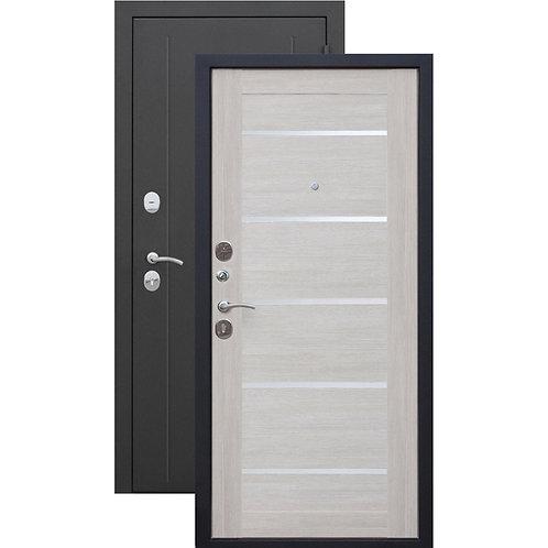 Металлическая сейф дверь Гарда Муар ЦАРГА 7,5 Лиственница беж
