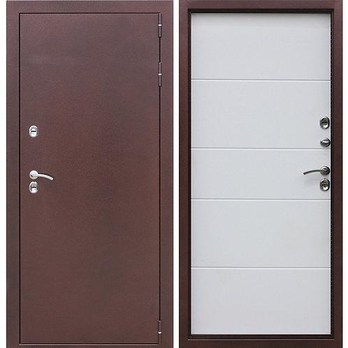 Металлическая сейф дверь ISOTERMA 10 см 2 мм медный антик беленый ясень