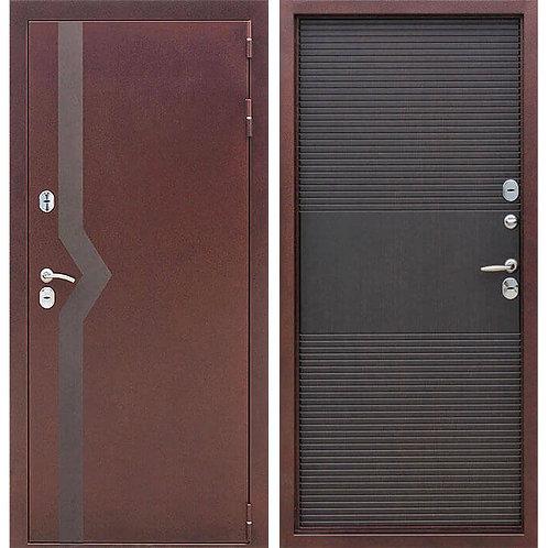 Металлическая сейф дверь ISOTERMA 10 см медный антик  венге
