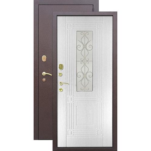 Металлическая сейф дверь 8 см Венеция Беленый дуб