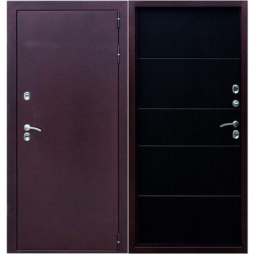 Металлическая сейф дверь ISOTERMA 8,5 см медный антик Венге