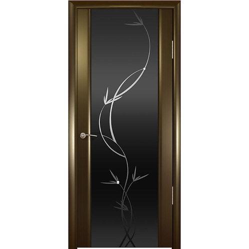 Межкомнатная дверь Шторм 3 ДО черное растение