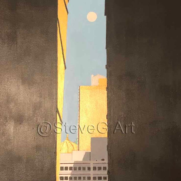 A Sliver of the City in Morning Light