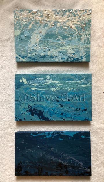 La Mer (a vertical triptych)