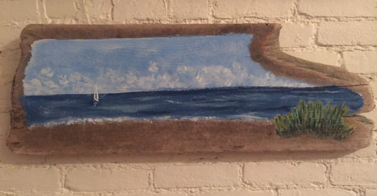 Painting on Driftwood