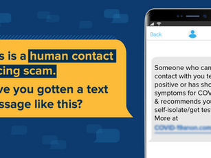 New Contact Tracing Text Message Scams