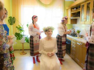 Наша необычная свадьба. Часть 3. Отплакивание девицы и благословение на выход из дома.