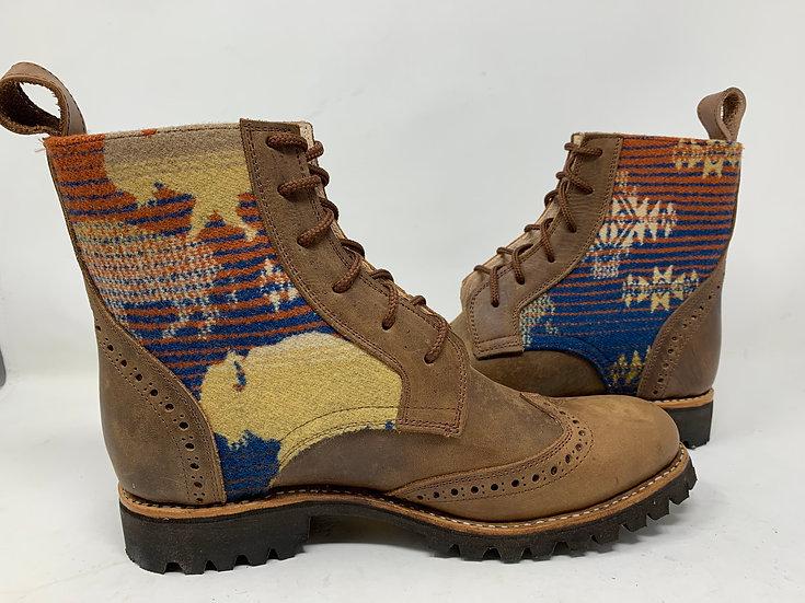 Men's Size 11 Buffalo and Brown wool Handmade for Life *Gunslinge