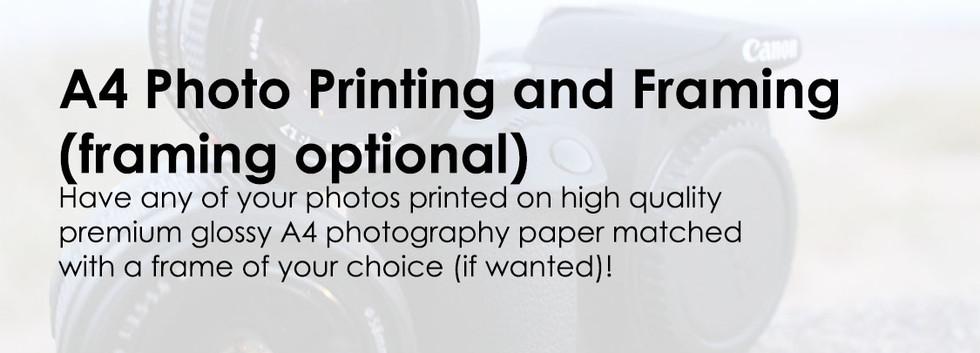 A4 Photo Printing and Framing