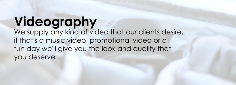 Videography Service Advertisement