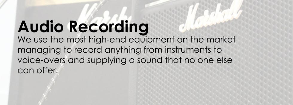Audio Recording Service Advertisement