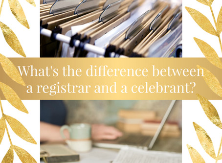 What's the difference between a registrar and a celebrant?