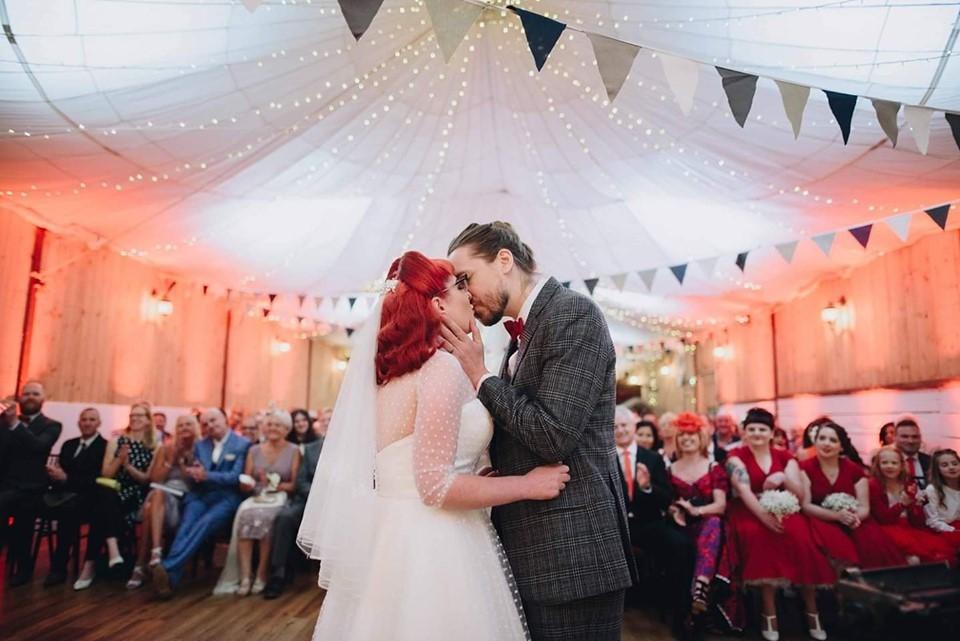 Lara and Shaun - photo credit: The Pin-up Bride
